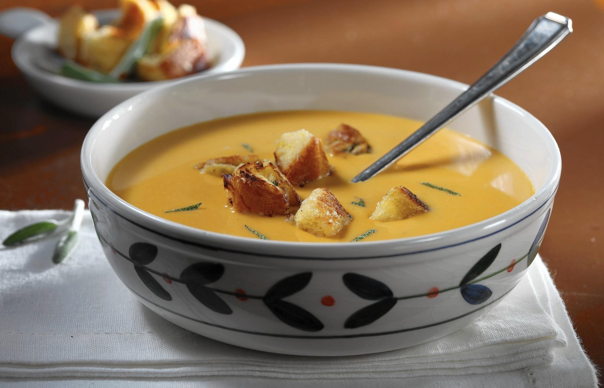Velvety smooth butternut squash soup kicks off ...