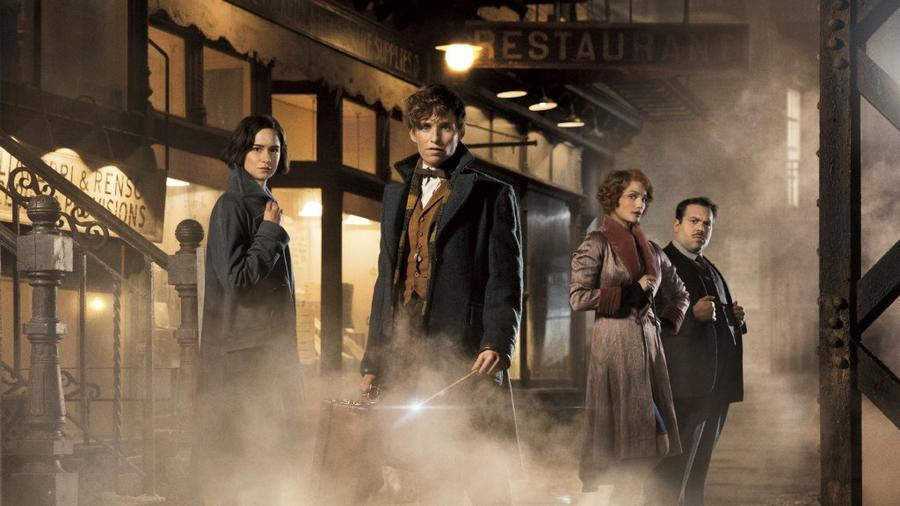 "Katherine Waterston, Eddie Redmayne, Alison Sudol and Dan Fogler in a scene from ""Fantastic Beasts and Where to Find Them."" None"