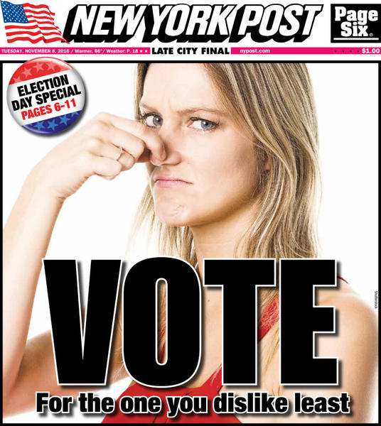 New York holds its nose and votes -- for the least ...
