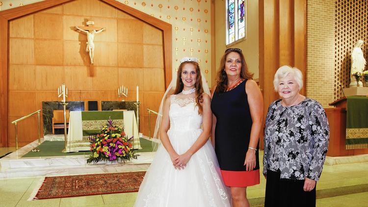 Generational wedding dress.