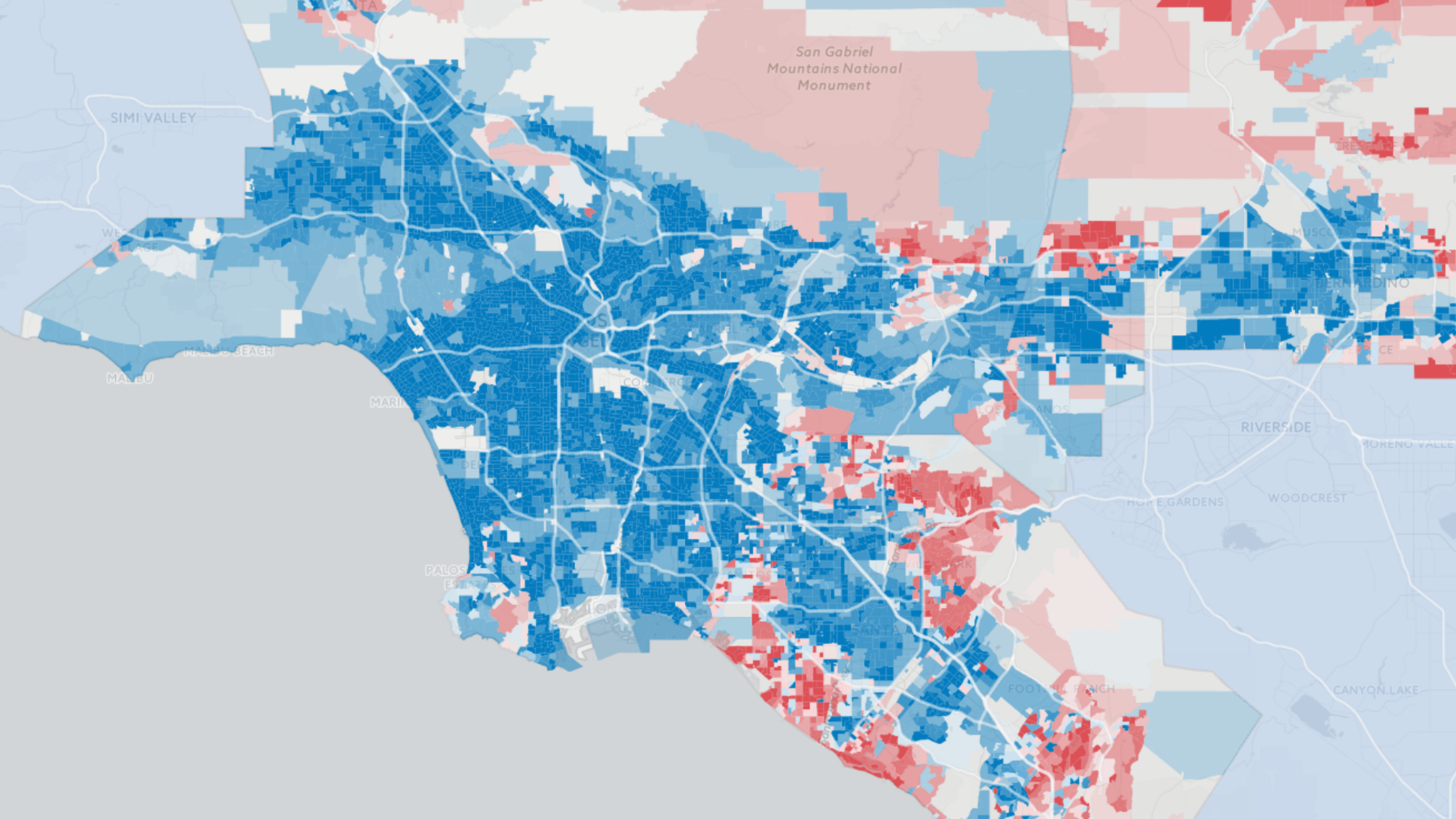 California Neighborhood Election Results  LA Times