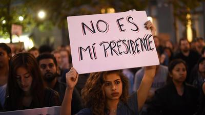 Marchas y protestas a lo largo de California con el triunfo de Trump