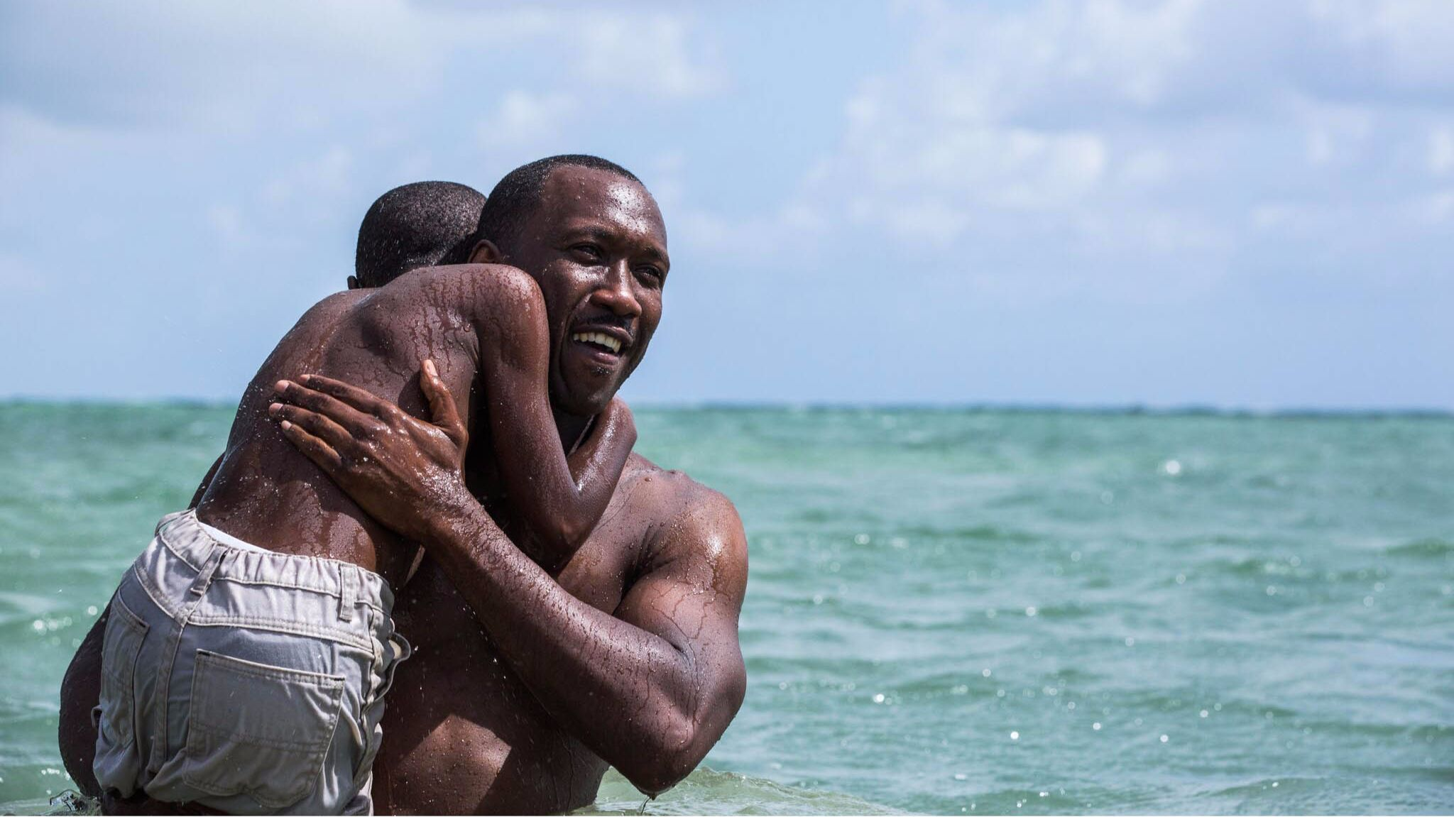 "Mahershala Ali, right, and Alex Hibbert in ""Moonlight."""