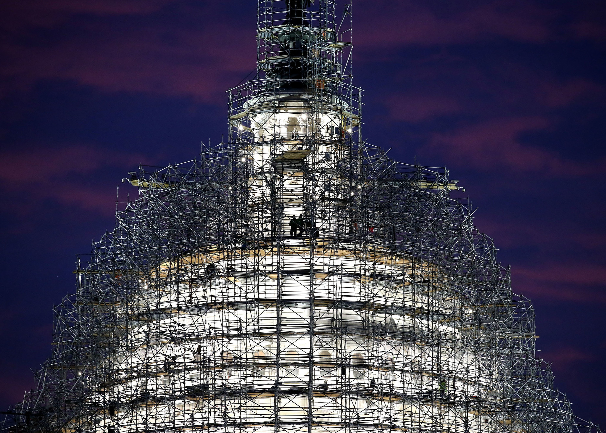 Capitol Building Scaffolding : New capitol dome a refurbished symbol of unity to be