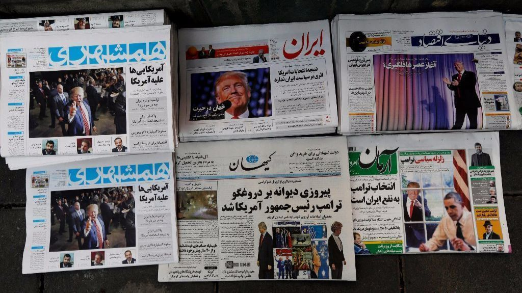 Image result for iran  trump poster