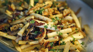 Parsnips and charred radicchio