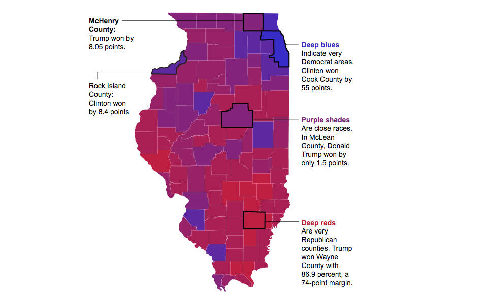 Electionysis On The Edge Of Illinois Urban Rural