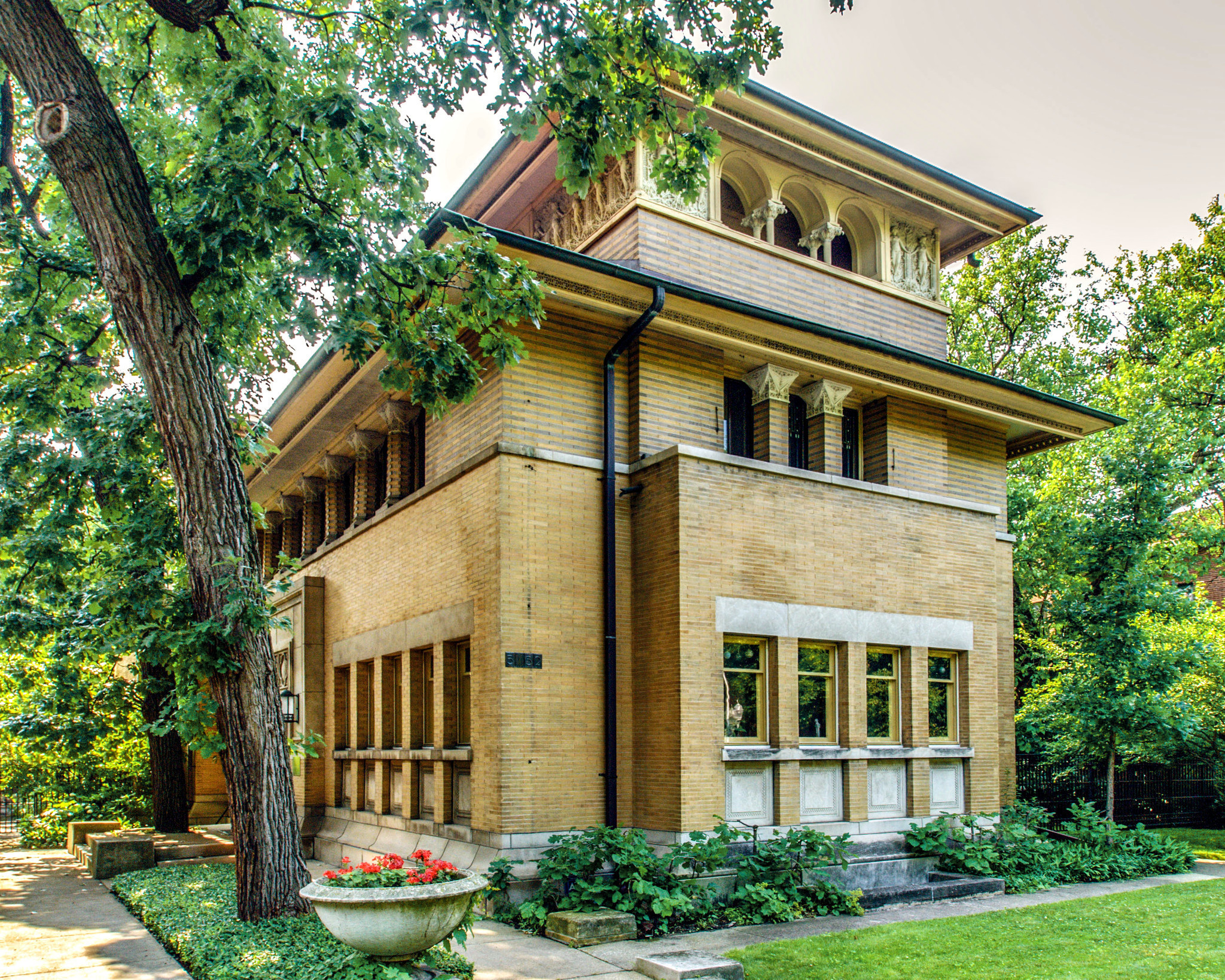 Frank lloyd wright 39 s heller house for sale again in hyde for Usonian house plans for sale