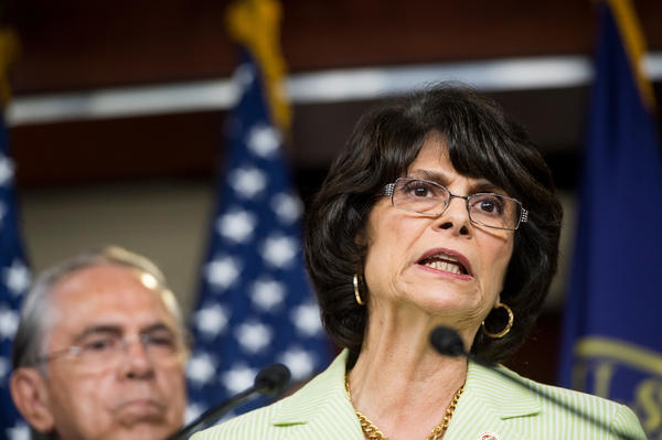 Rep. Lucille Roybal-Allard (D-Downey) joined other lawmakers in asking President Obama to protect young immigrants who gave their information to the government under the Deferred Action for Childhood Arrivals program. (Bill Clark / CQ Roll Call)