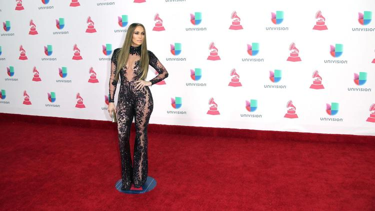 Jennifer Lopez arrives at the 17th Latin Grammy Awards in Las Vegas.