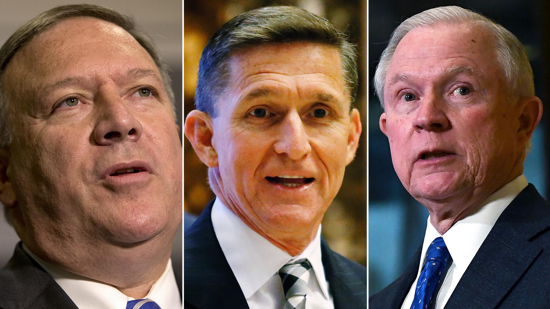 Trump escolhe conservadores leais como secretário de Justiça e diretor da CIA