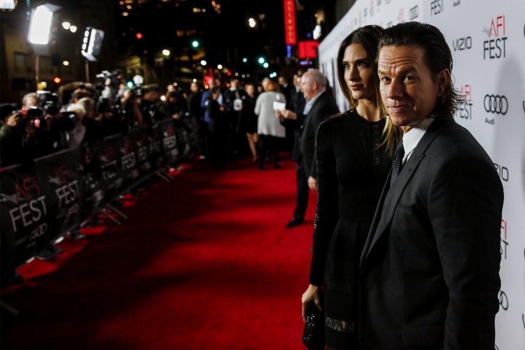 "Mark Wahlberg and his wife, Rhea Durham, attend the AFI Fest premiere of ""Patriots Day."" (Jay L. Clendenin / Los Angeles Times)"