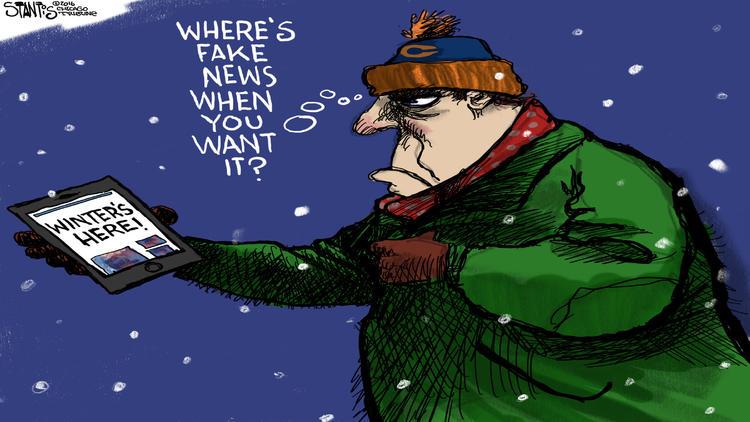 Can we get a little fake news here? – Scott Santis Cartoon