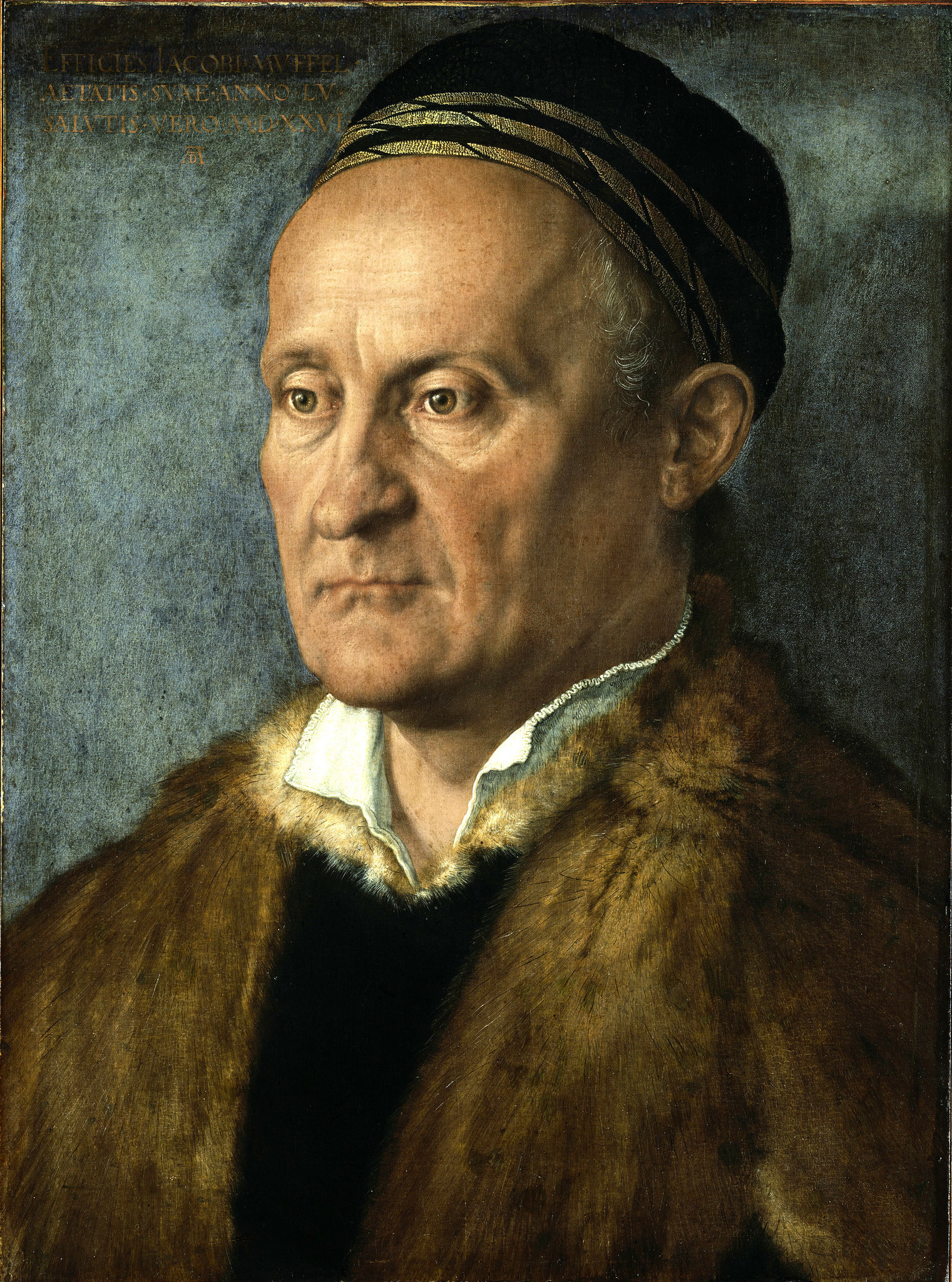 "Albrecht Durer, ""Portrait of Jakob Muffel,"" 1526, oil on panel transferred to canvas."