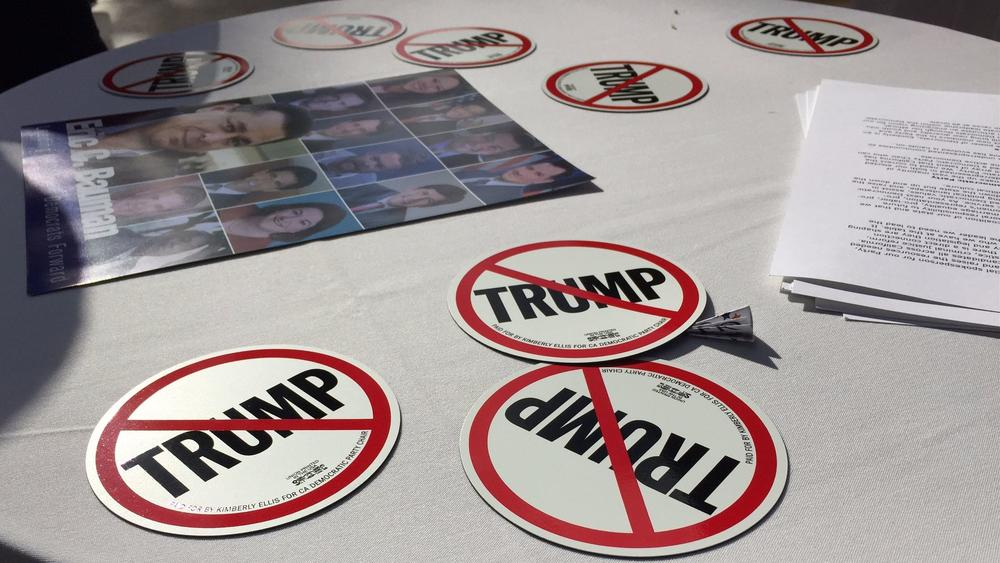 Donald Trump's election was the main topic at a meeting of the California Democratic Party executive committee last weekend in San Diego. (Phil Willon / Los Angeles Times)