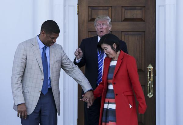 politics trump meets with school reformer democrat michelle rhee education secretary post still open