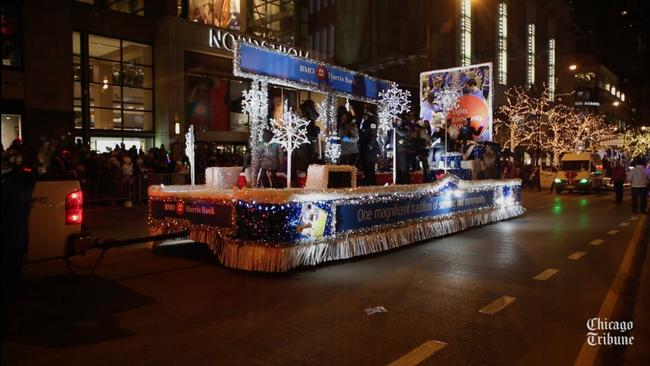scenes from the magnificent mile lights festival parade