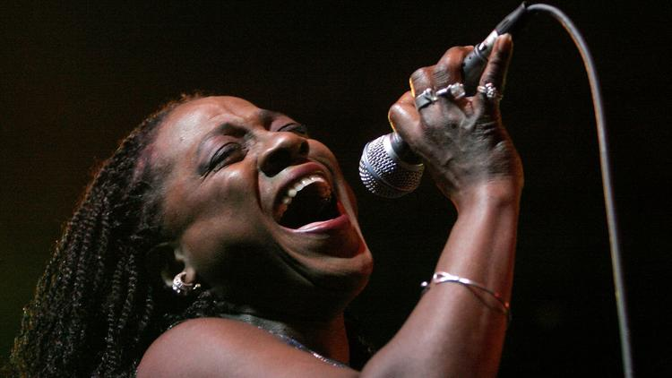 "Sharon Jones, shown performing in 2008 at the Coachella Valley Music and Arts Festival, was battling pancreatic cancer while working on her final studio album, ""Soul of a Woman."" (Spencer Weiner / Los Angeles Times)"