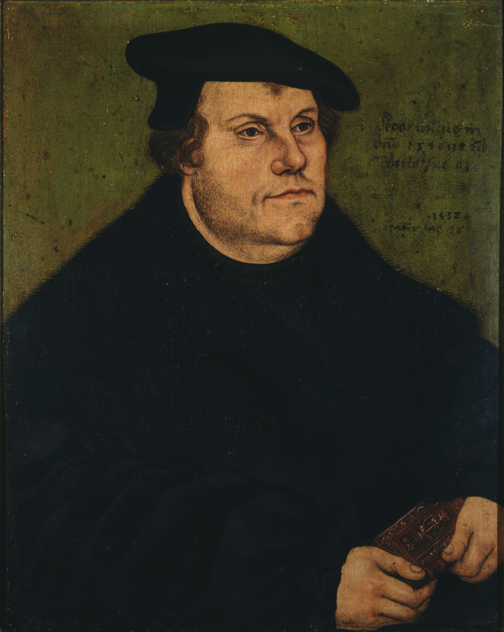 "Lucas Cranach the Elder, ""Martin Luther,"" 1532."