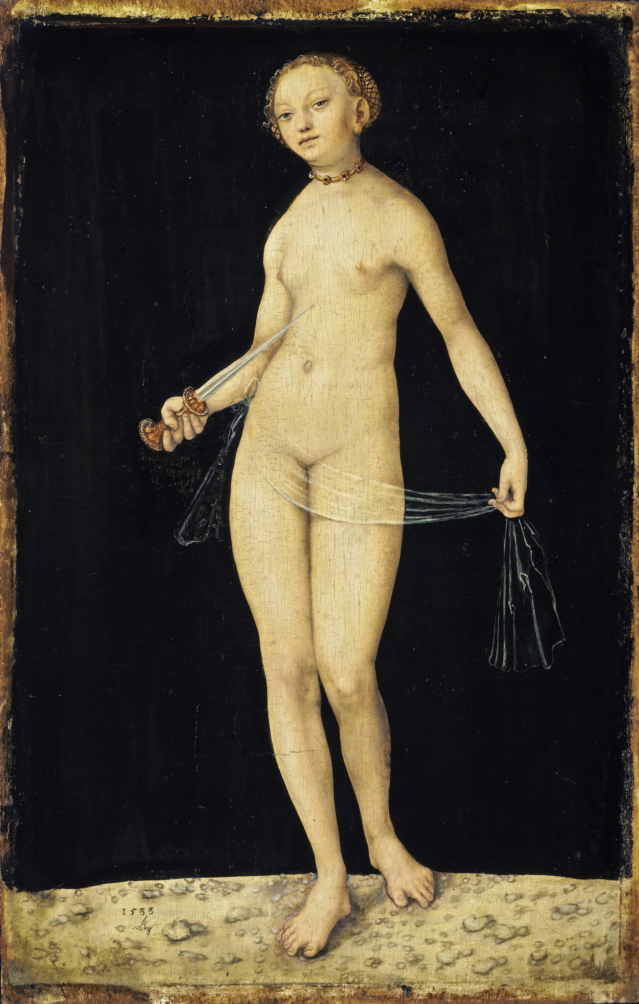 "Lucas Cranach the Elder, ""Lucretia,"" 1533."