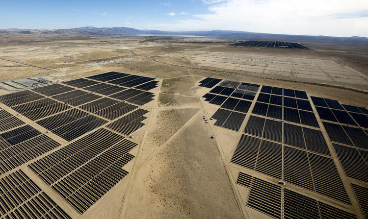 A solar farm in Kern County (Mel Melcon / Los Angeles Times)