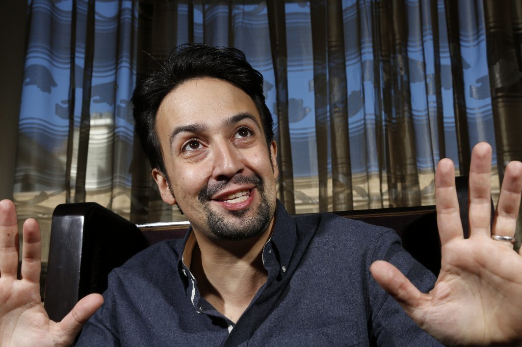 Lin-Manuel Miranda hit up karaoke Thursday in Echo Park. (Genaro Molina / Los Angeles Times)