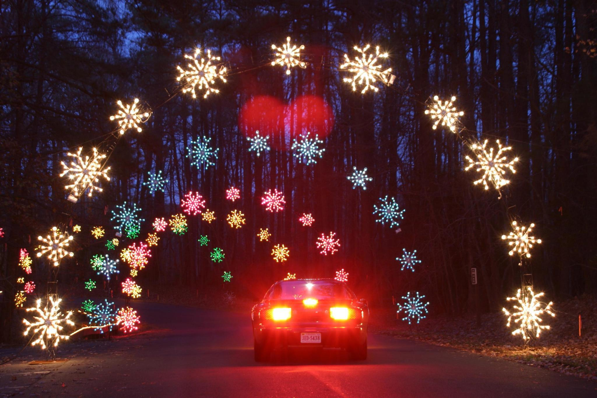 nns celebration in lights shines along 100 miles of light displays from virginia beach to richmond daily press - Virginia Beach Christmas Lights