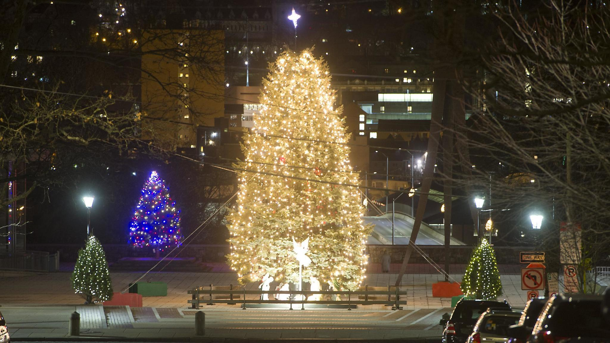 lehigh valley community tree lightings time to flick the switch the morning call