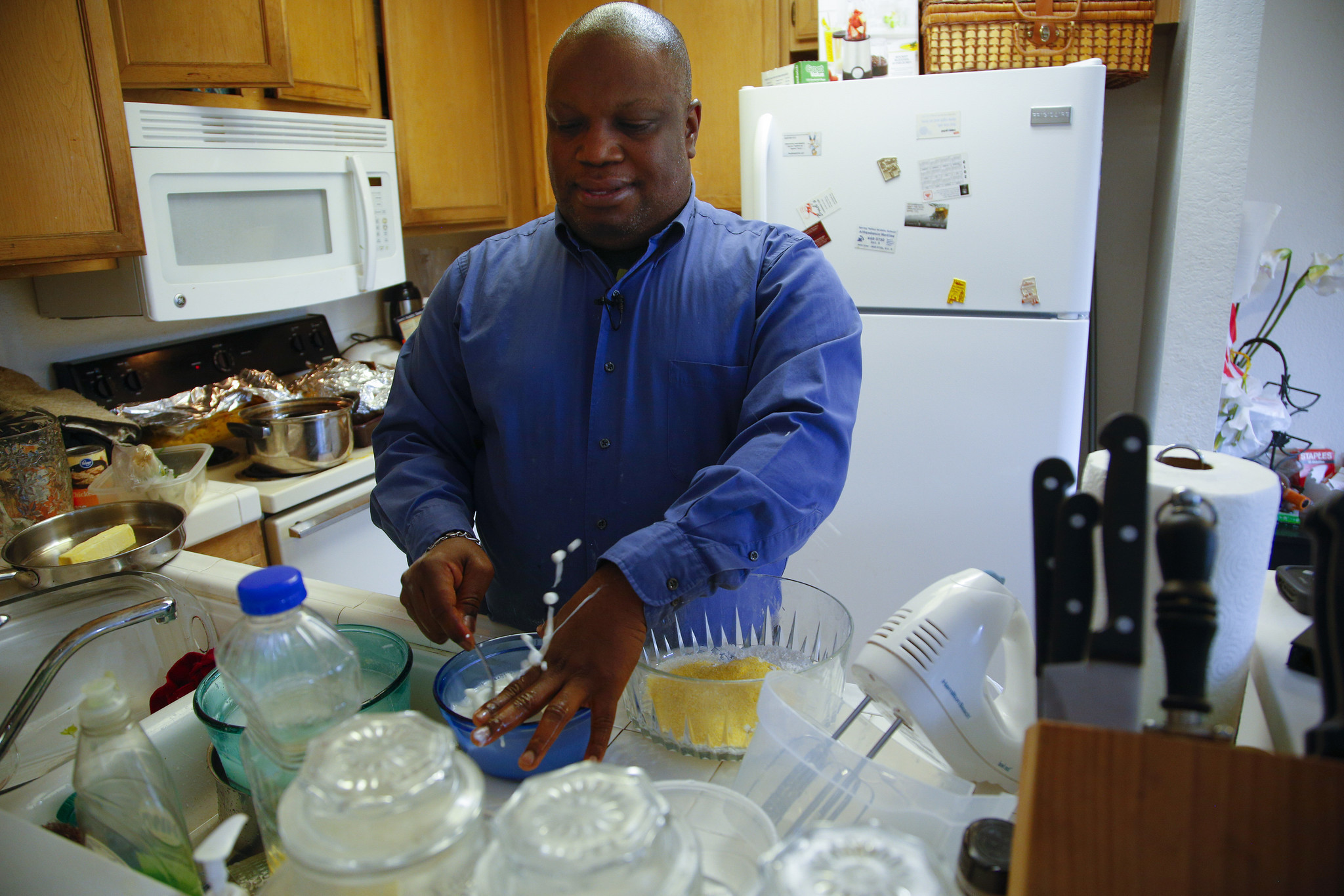 On Thanksgiving Cooking Blind And Serving Blessings The
