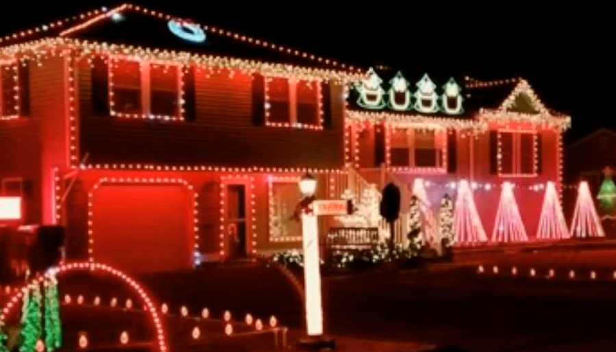 familys christmas light display to benefit food pantry local boy suffering from bone cancer hartford courant