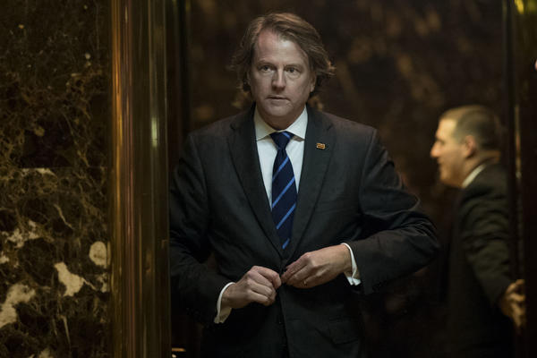 Don McGahn is named by President-elect Donald Trump as his White House counsel. (Drew Angerer/Getty Images)