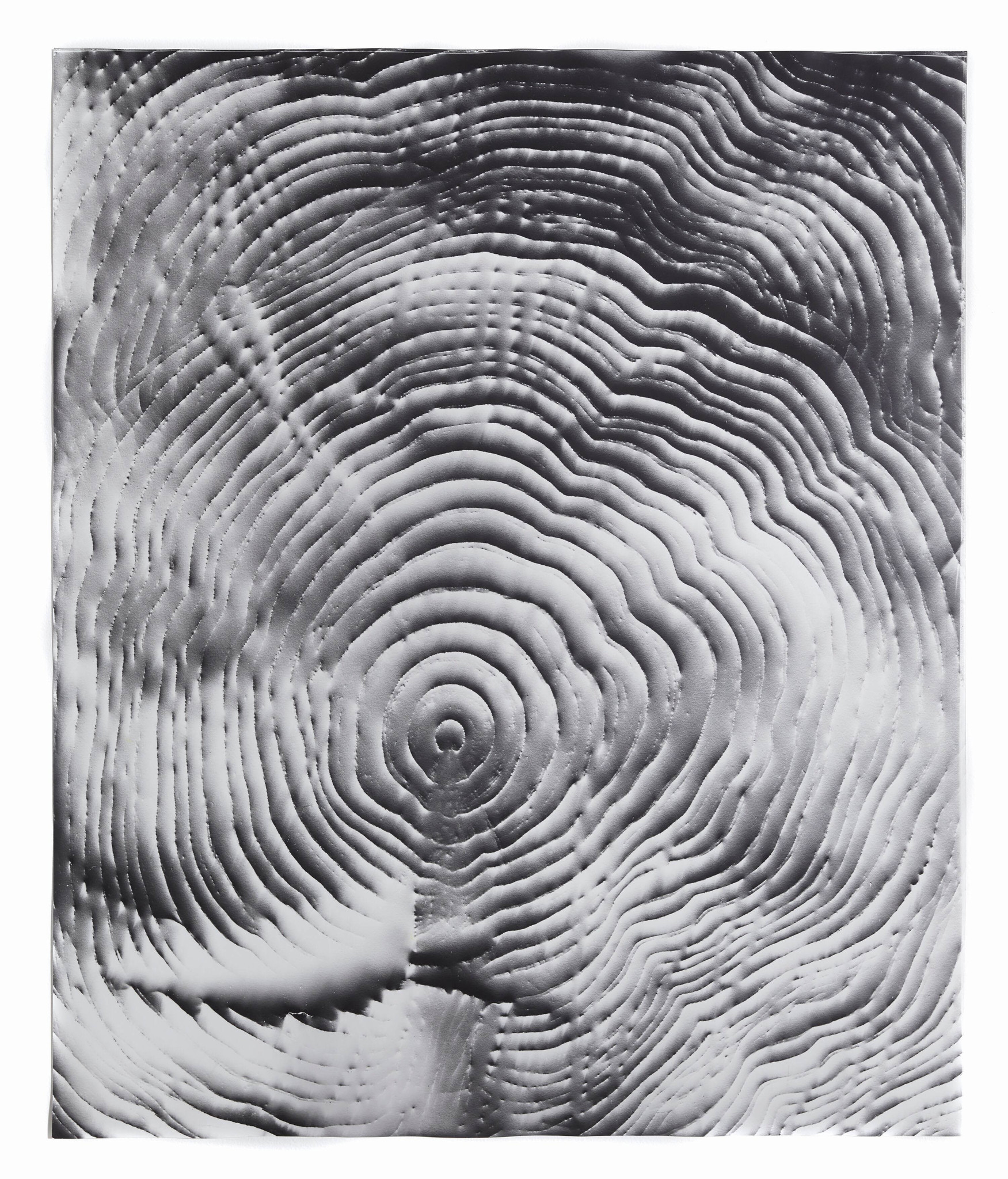 """Automatic Earth #13,"" 2016, photographic rubbing, unique gelatin silver photogram."