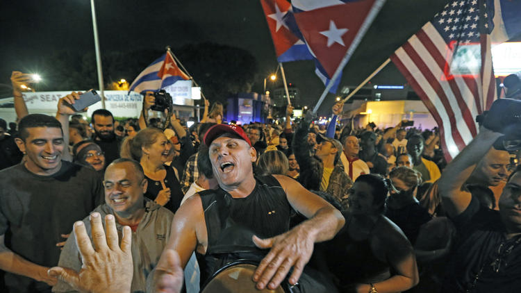 Castro's death sparks celebration in Miami