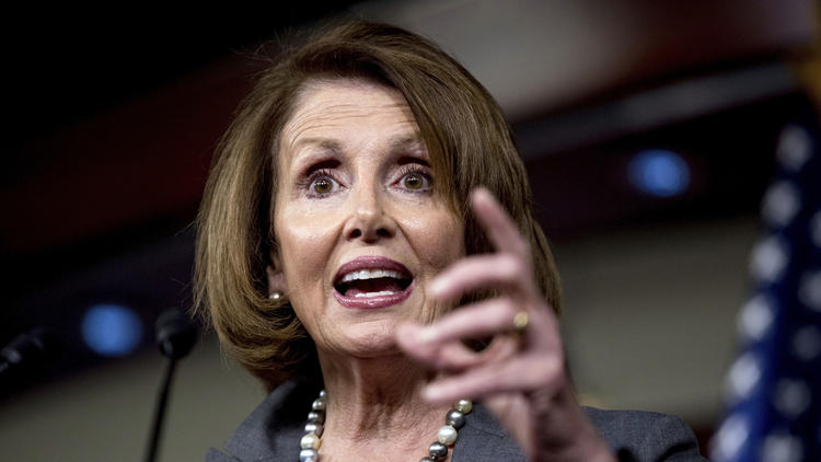 """(Andrew Harnik / Associated Press) (""""We have responsibility to find common ground,"""" House Minority Leader Nancy Pelosi said of working with President-elect Donald Trump.)"""
