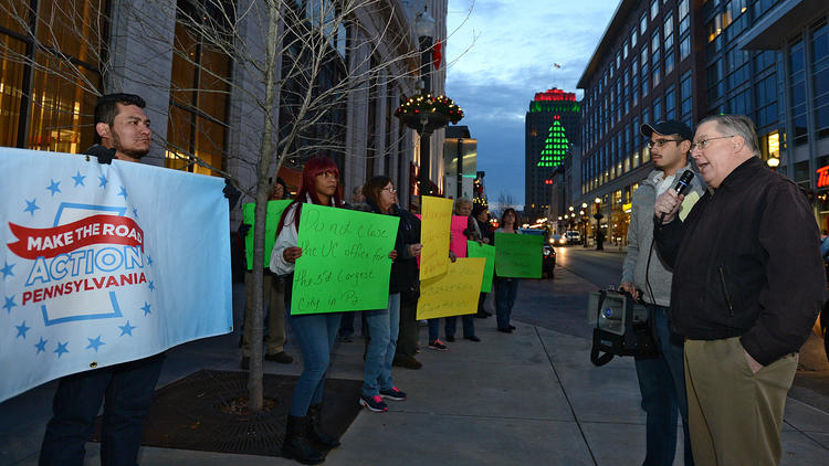 PICTURES: Allentown unemployment workers protest as Senate standoff threatens jobs