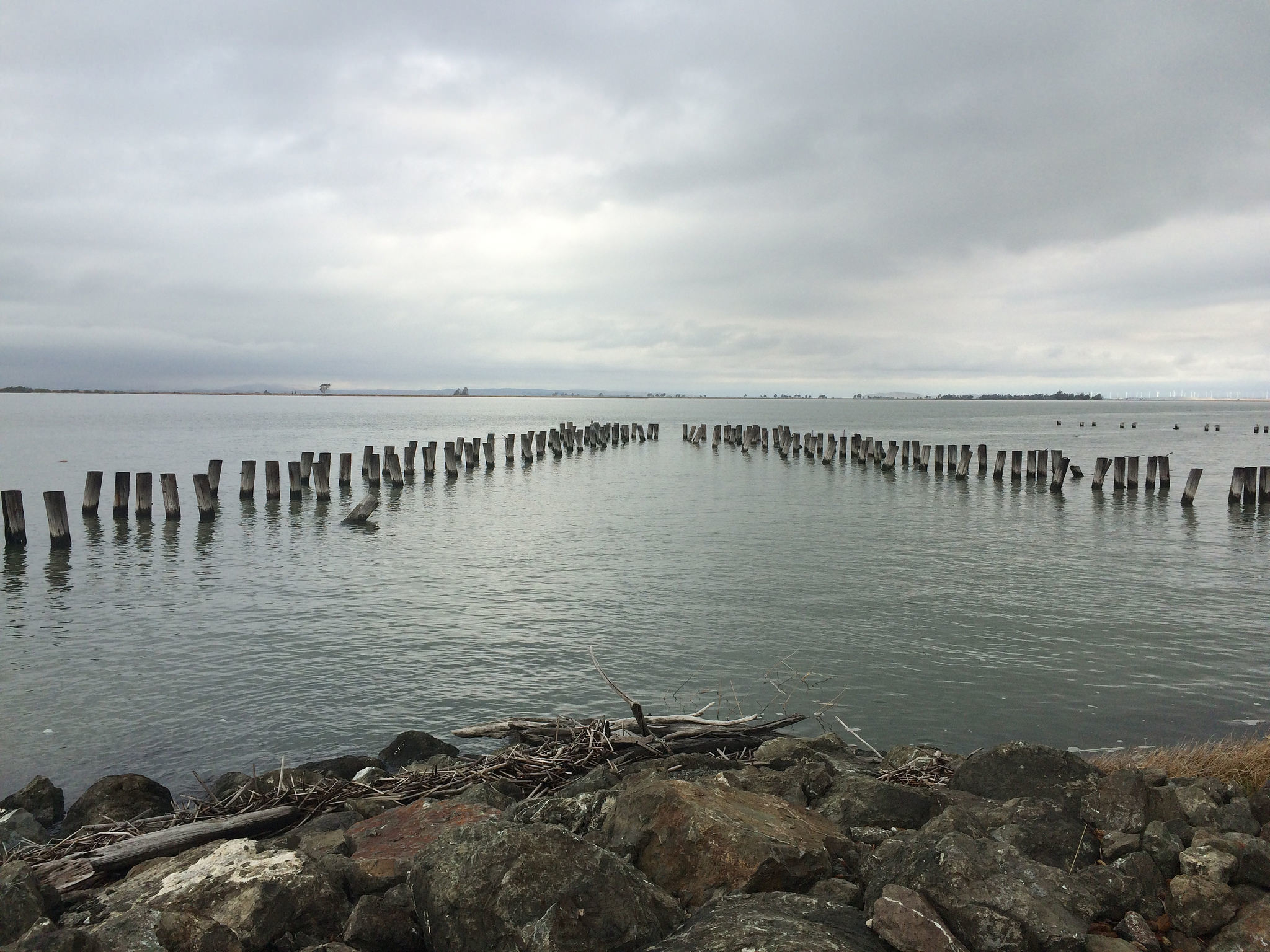 A view of what remains of the World War II-era pier at Port Chicago, where 320 men, mostly African American, lost their lives in an explosion.