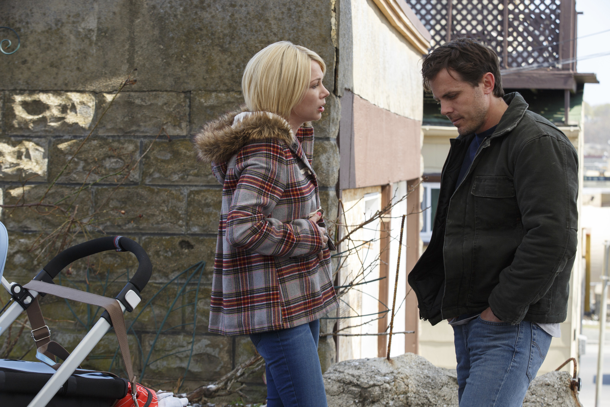 "Michelle Williams and Casey Affleck in a scene from ""Manchester by the Sea."""