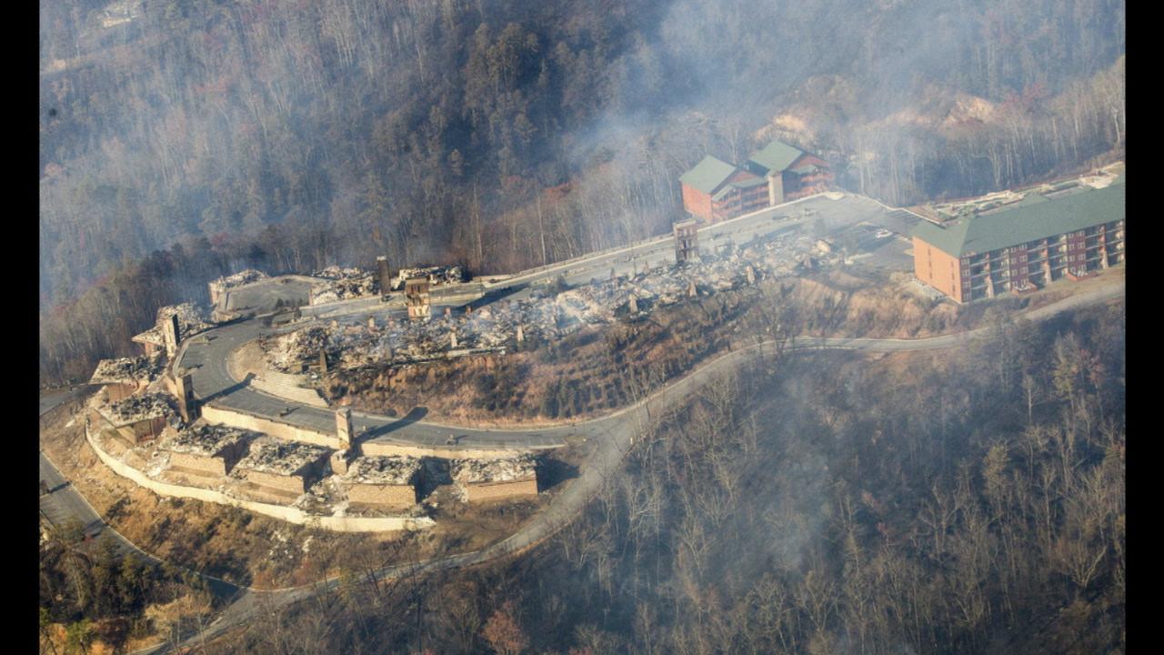 gatlinburg fire damages westgate resort in smoky mountains