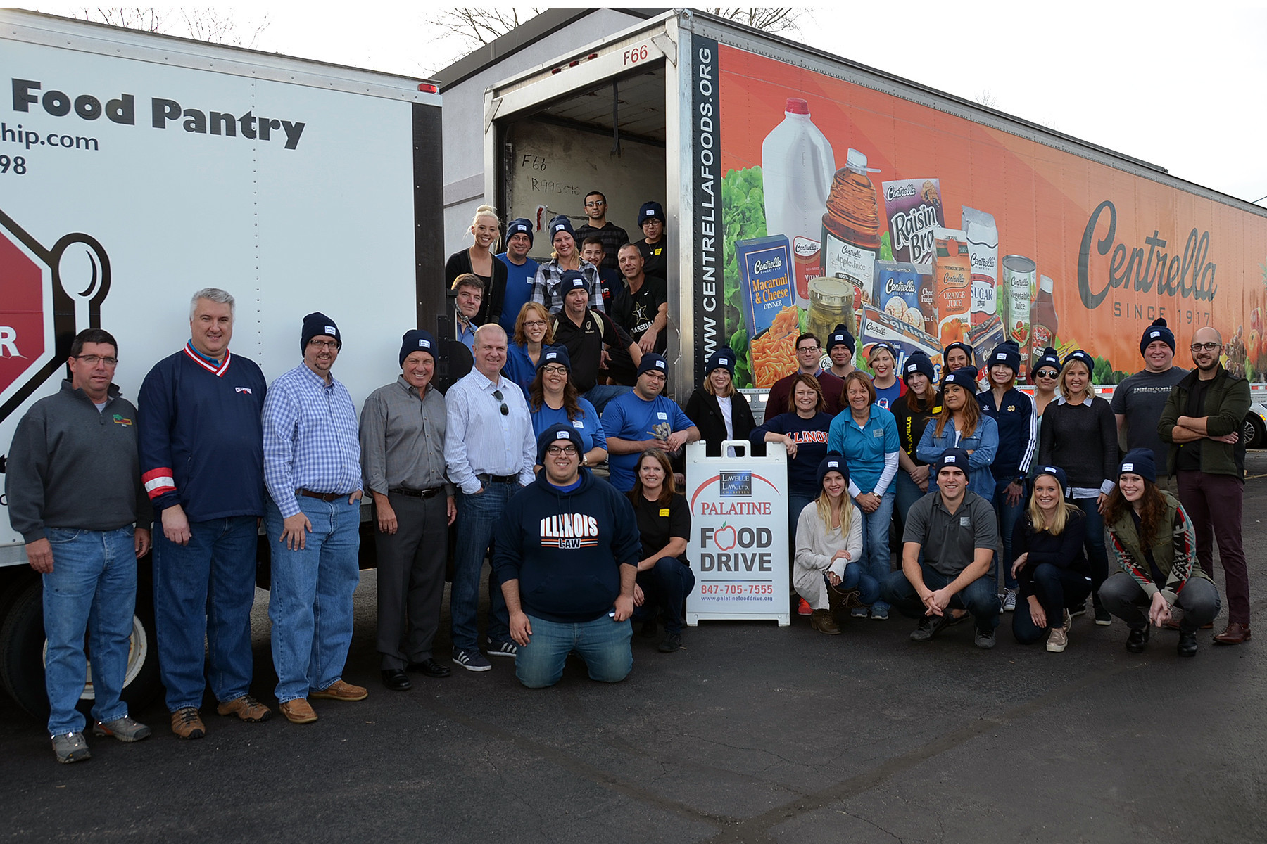 lavelle law thanks contributors to palatine food drive