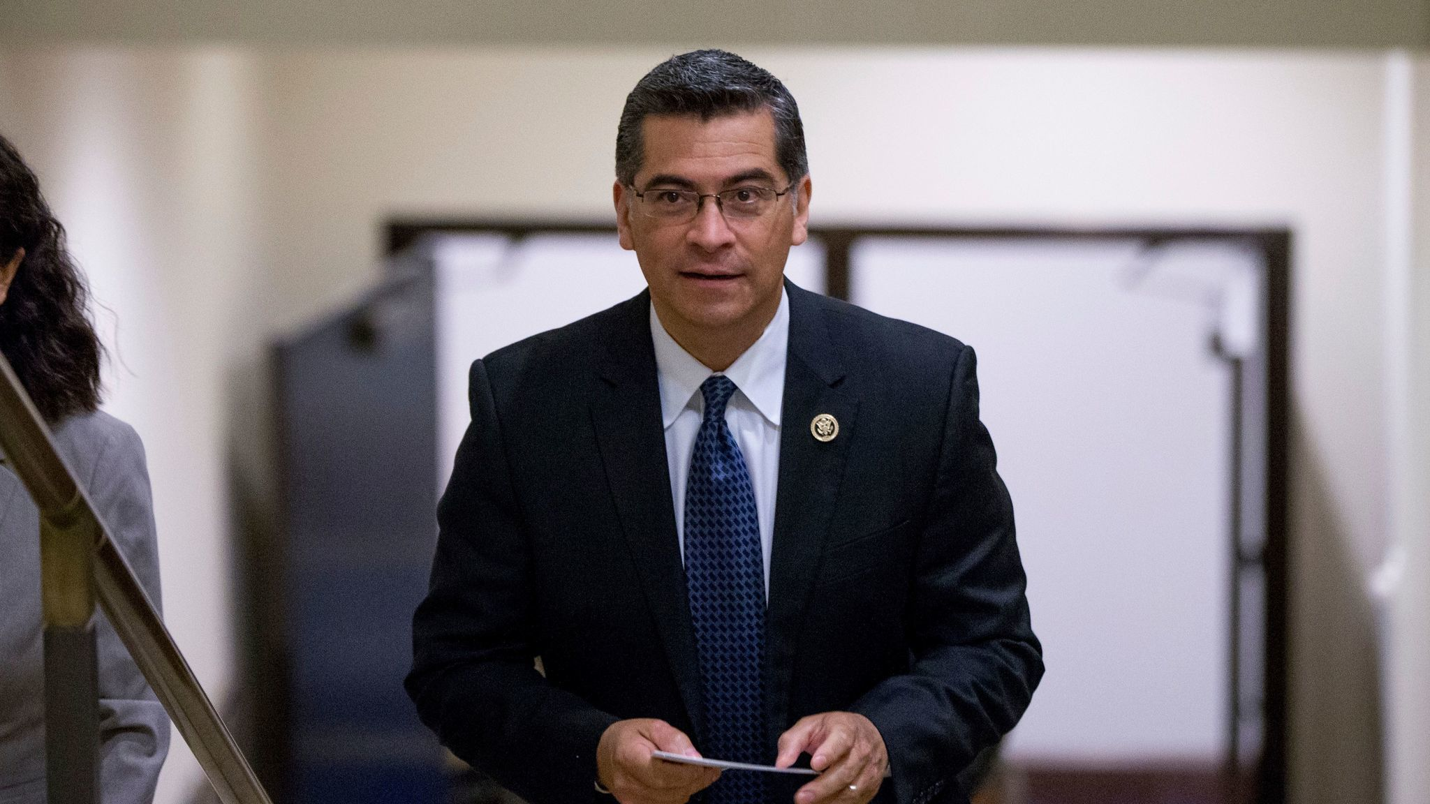 Atty. Gen. Xavier Becerra wants more information on federal enforcement of immigration laws. (Andrew Harnik / Associated Press)