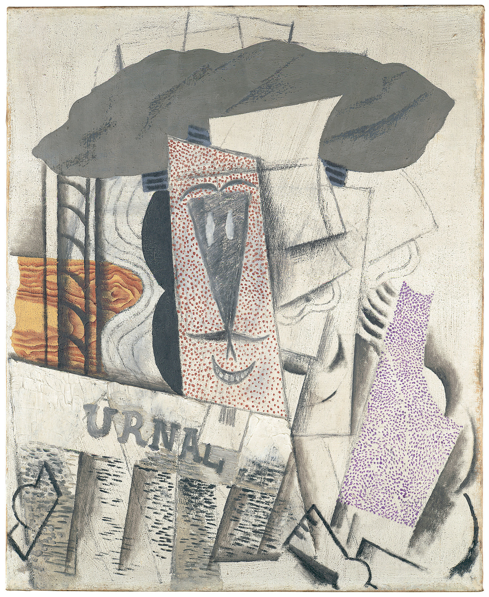 "Pablo Picasso, ""Student With Newspaper,"" 1913-14."