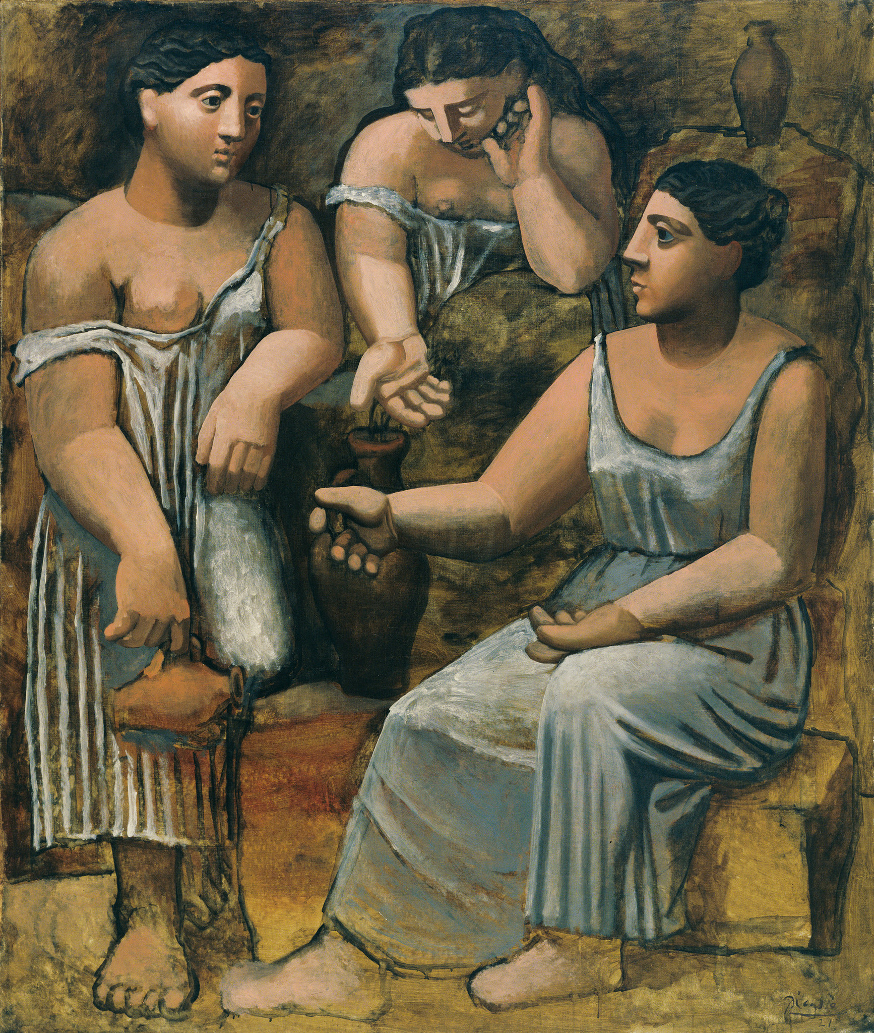 "Pablo Picasso, ""Three Women at the Spring,"" 1921, oil on canvas."