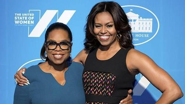 Oprah Winfrey and First Lady Michelle Obama (White House)