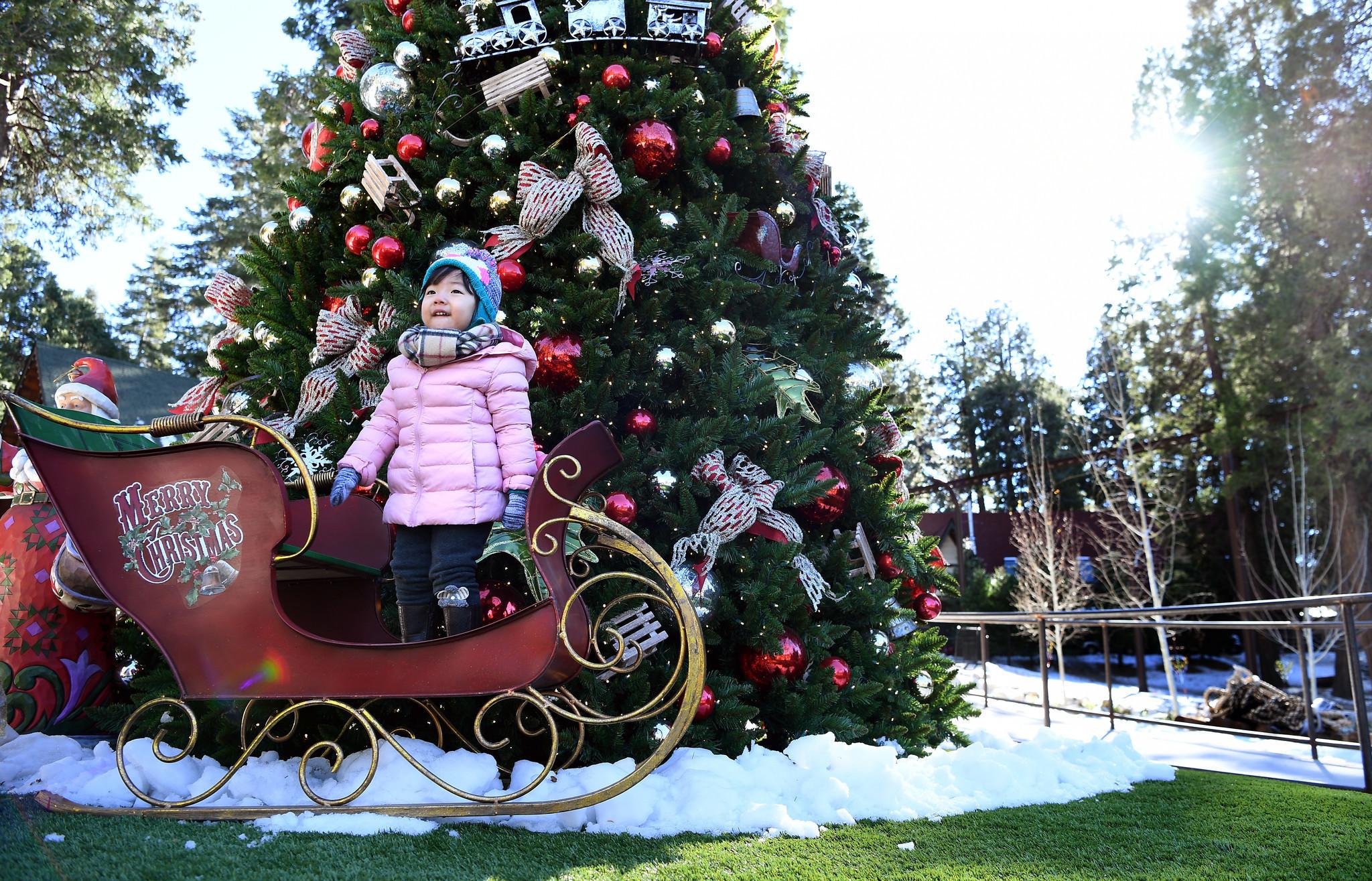 its a retro southern california christmas as santas village reopens la times - Christmas Tree Village