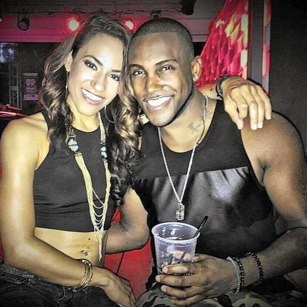 Shane Tomlinson (right) and band mate Ginelle Morales (left) pose together before Tomlinson was killed in the mass shooting at Pulse.