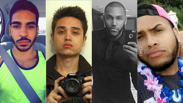 From left to right, Juan Guerrero, Drew Leinonen, Shane Tomlinson and Ommy Gonzalez Cruz