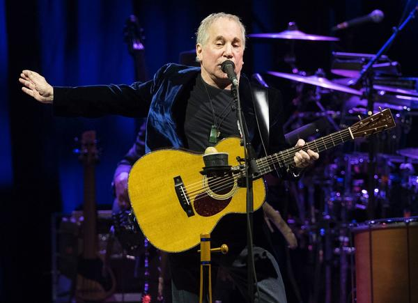 Paul Simon performs on Nov. 17. (Ander Gillenea / AFP/Getty Images)