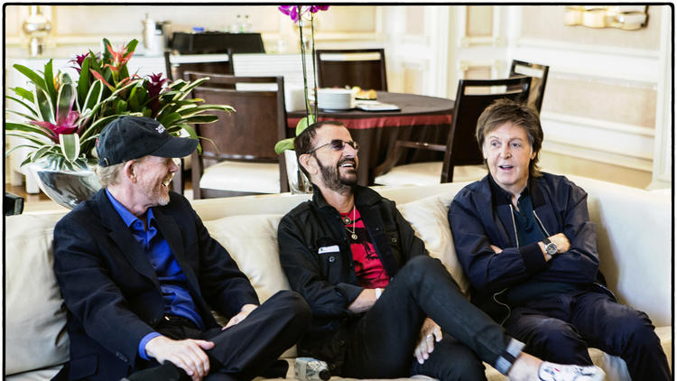 Ron Howard, Ringo Starr and Paul McCartney (MJ Kim)