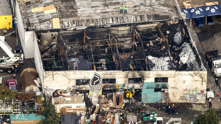 Dozens dead after warehouse fire in Oakland