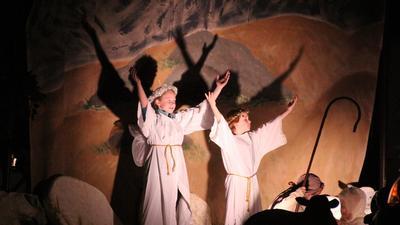 Drive-thru nativity in 10th year at St. Luke's